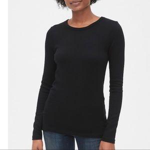 GAP the Bowery Super Soft Black Crew Shirt Sz M